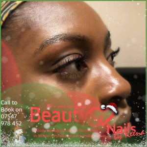 Christmas lash extension Beauty and Nails by Reena Mobile Beauty therapist Milton Keynes