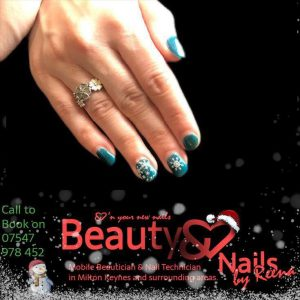 Christmas gel nails Beauty and Nails by Reena Mobile Beauty therapist Milton Keynes