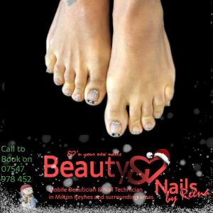 Christmas gel nails Beauty and Nails by Reena